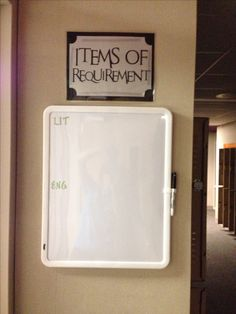 Harry Potter Classroom-Items of Requirement