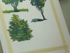 Watercolor Lessons - Tree Techniques 3, Frank M. Costantino