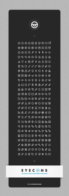 Eyecons : 250 Piece Vector Icon Set designed by Burcu Dayanıklı. Connect with them on Dribbble; Web Design, Icon Design, Logo Design, Flat Design, Interface Web, User Interface Design, Ui Design Inspiration, Interactive Design, Autocad