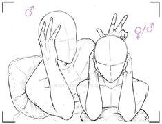 drawing base girl with hair \ drawing base girl . drawing base girl with hair . Drawing Couple Poses, Couple Drawings, Art Drawings Sketches, Couple Sketch, Drawing Base, Manga Drawing, Figure Drawing, Chibi Drawing, Chibi Sketch