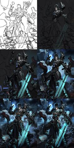Legendary Lixi Knight regular steps by *neisbeis on deviantART