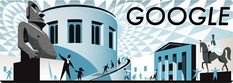 Google Doodle celebrating the 255th anniversary of the British Museum on 15 January 2014