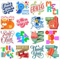 #SayThanks :) #FacebookSticker by Various Artists Danke, Merci, Gracias – show your gratitude with a word of thanks. #view #Medialogist