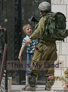 (Palestine)  = I love this pic and this boy it speaks volumes even without the words on it!! =
