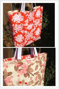 Sold Order: Reversible Tote with Pockets
