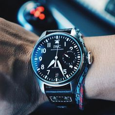 REPOST!!! When you have to run and gun - Late for a PTA meeting, 7 day PR FTW. #IWC #BigPilot #IW500912 #iwcpilot #bigpilotwatch #5009 #b_original @iwcwatches repost | credit: ID @aguynamedtommy (Instagram)