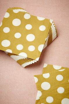 Full Circle Cocktail Napkins (20) in Gold!