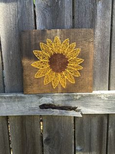 String Art Sunflower, Mother's Day Gifts, Gifts For Her, Kitchen Decor by GibbensGarage on Etsy https://www.etsy.com/listing/292996325/string-art-sunflower-mothers-day-gifts