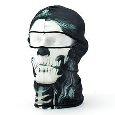 Deals for Coxeer® Outdoor Motorcycle Cycling Lycra Printing Balaclava Full Face Mask (BW-05) for  Halloween Gifts Idea Store for  #Halloween Gifts Idea Deals