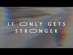 It Only Gets Stronger (Lyric Video) - Jeremy Riddle God First, Christian Music, Riddles, News Songs, Worship, Singing, Lyrics, Strong, Album