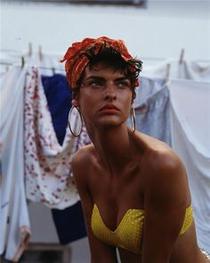 """Linda Evangelista in """"Cuba"""" / Photoghraphed by Steven Meisel / For Vogue Italia February 1989"""