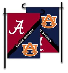 A House Divided Flag for Alabama & Auburn is available at Bear Cub Gifts. Regular Price: $24 SALE Price: $19 Thanks for supporting our small business. #swaddletoddlebearcubgifts #gamedayready #ahousedivided #dahlonega #dahlonegasquare #gamedaygardenflags