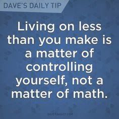 Living well below your means = complete freedom from financial stress. Living o Financial Stress, Financial Tips, Live On Less, Anxiety Causes, Budget Planer, Understanding Anxiety, Anxiety Treatment, Finance Blog, Dave Ramsey