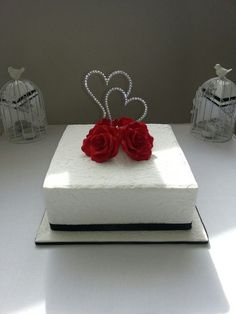 Single Tier Wedding Cake By Marakye Designs