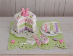 Miniature Easter Cake 1:12 scale