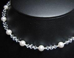 Y-Drop Halskette Hochzeits Swarovski Kristall von EuropeanBride