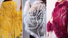 Precioso Chal semicírculo en Crochet con Patrones