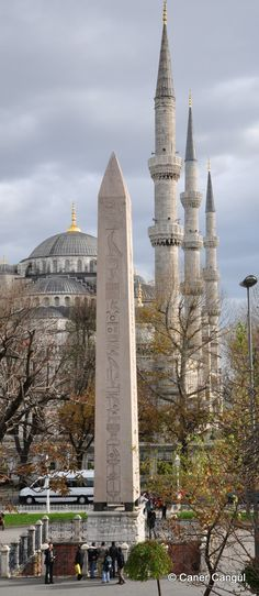 Egyptian obelisk in Istanbul and Blue Mosque on the background. Egyptian obelisk in Istanbul and Blue Mosque on the background. Places Around The World, Travel Around The World, The Places Youll Go, Places To See, Around The Worlds, Hagia Sophia, Beautiful Places To Visit, Wonderful Places, Beautiful Mosques