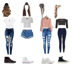 """Untitled #23"" by isabella6164 on Polyvore featuring H&M, Vans, Sirena Collection, Pilot, Levi's, Converse, WithChic, adidas and Boohoo"