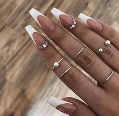34 Luxury Coffin French Tip Nail Designs - 34 Luxury Coffin French Tip Nail . - 34 Luxury Coffin French Tip Nail Designs – 34 Luxury Coffin French Tip Nail Designs – # - French Tip Acrylic Nails, French Tip Nail Designs, White Tip Nails, White Coffin Nails, Long Acrylic Nails, Long French Tip Nails, French Tips, White French Nails, Acrylic White Tips