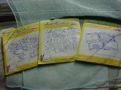 Aunt Martha's Hot Iron Transfers Bonnet Girl Bears Pillow slips + LOT of 3 A1826