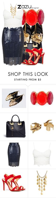 """Zazu (The Lion King)"" by claucrasoda ❤ liked on Polyvore featuring Mixit, Sophie Hulme, TFNC, Schutz and John Hardy"