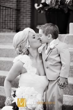 Mother and Son - Bride and Ring bearer - Weddings