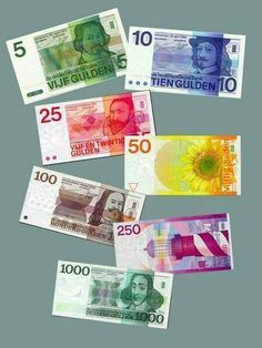 Dutch paper money before the Euro: Guldens!! Visit www.shop.holland.com and pay…