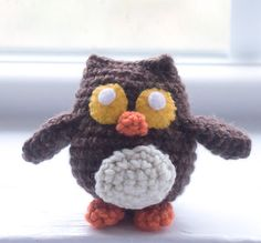 Crochet Owl Plush/ Choose Your Colors/ by TheFadedWildflower