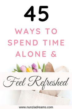 """Spending time alone has so many benefits. If you're in need of some """"me time,"""" here are 45 fun activities that'll help you feel refreshed! Alone Time, Guided Meditation, Relaxation Meditation, Things To Do Alone, Time Activities, Self Care Routine, Relaxing Music, I Feel Good, Mental Health Awareness"""