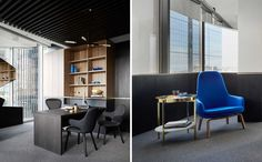 Inspired by world-class luxury lounges, Melbourne design studio Mim Design has created a modern office space for the international developer Landream.