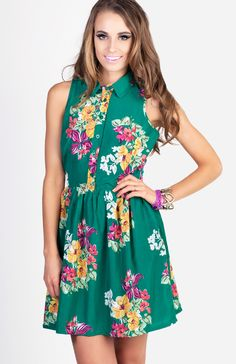 Floral Collared Vintage Dress  $69.99