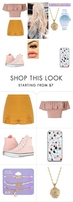 """Maya 1"" by katarina-ci on Polyvore featuring Miss Selfridge, Converse, claire's, 2028 and Lacoste"