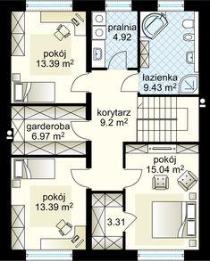 Projekt domu Verona IV 182.93 m² - Domowe Klimaty Bungalow House Design, House Entrance, Ground Floor, Home Fashion, Verona, Deco, Sweet Home, Floor Plans, Flooring