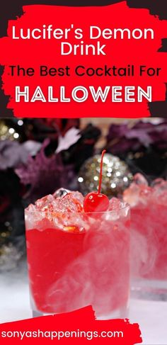 Lucifer's Demon Drink is the perfect #Halloween party #cocktail! #Halloween2021 #partydrinks #rum #partycocktail