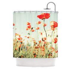 KESS InHouse Poppy Polyester Shower Curtain