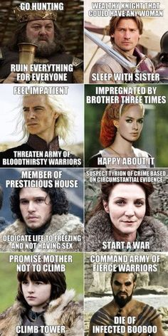 We should use Game of Thrones as a text to reflect on good decision making.