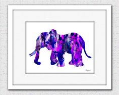 Elephant print purple elephant print elephant by FluidDiamondArt