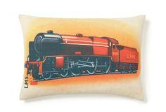 Prints Charming Animated Train Pillow
