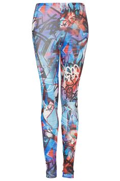 Graphic Grafitti Leggings - Leggings - Clothing - Topshop