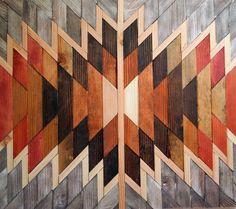Wooden Kilim Wall Art - Sawdust and Embryos
