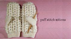 かぎ針で編む 玉編みの手袋の編み方 / How To Crochet * puff stitch mittens (glove) *