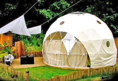 eco glamping just outside of London at The Dome Garden. I have always wanted to visit this site