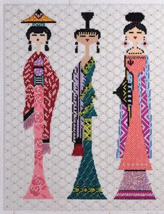 It's not your Grandmother's Needlepoint: The girls are back in town!