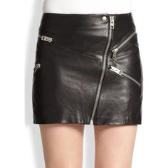 The Kooples Leather Zip Mini Skirt (4.015 NOK) ❤ liked on Polyvore featuring skirts, mini skirts, bottoms, apparel & accessories, black, long leather skirt, asymmetrical short skirt, asymmetrical long skirt, leather miniskirt and asymmetrical leather skirt