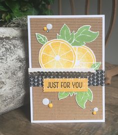 Stampin Up, SU, Apple of my eye, Just for you