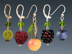 Elizabeth Johnson Glass Fruit Earrings