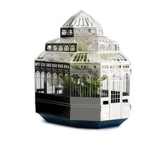 Finch & Fouracre is a Scottish design team (finchandfouracre.co.uk) - making and selling papercrafting model kits emmulating Glasgow architectural icons. This one is Plantini -  a new growing kit that emulates the ornate steelwork of Victorian hothouses. The ornate, facet-topped structure stands just 9.5cm high and comes with everything you need to grow your own opulent tabletop plant house.