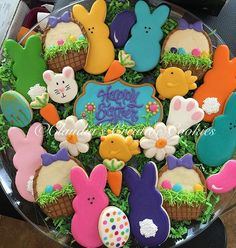 Happy Easter! #customcookies #decoratedcookies #decoratedsugarcookies #eastercookies #instasweet #deliciouscookies