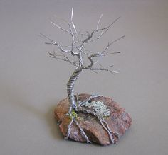 Wire Wrapped Jewelry and More: Sleeping Wire Tree